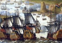 The battle of Vigo Bay. Anonimo circa 1705 (1702-1710)