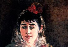 Portrait of Emilie Ambre in role of Carmen. Edouard Manet