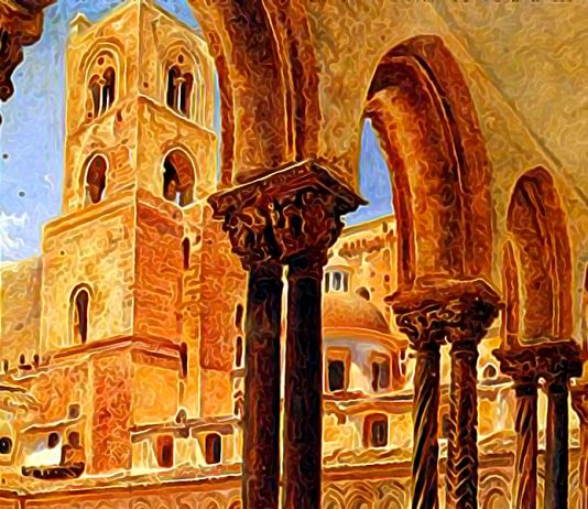 A View Of Monreale, Above Palermo. Rudolf von Alt