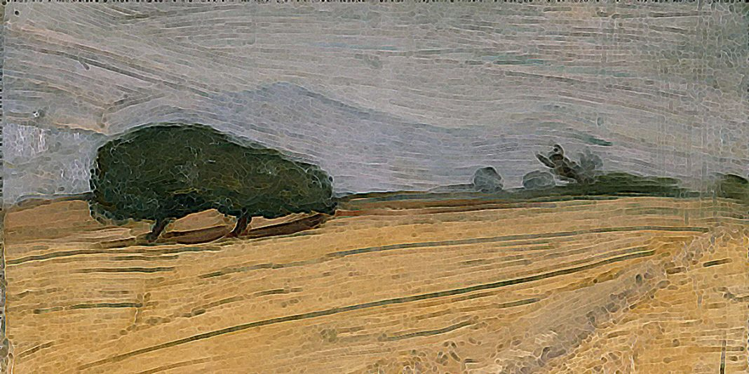 Field with Haystacks. Nikolaos Lytras