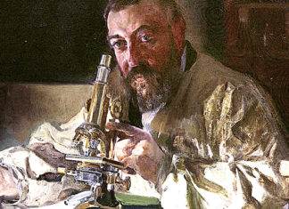 Portrait of Dr. Simarro at the microscope. JoaquÌn Sorolla y Bastida (1863-1923)