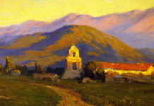 Sunrise, Mission at Pala near San Luis Rey Benjamin Brown