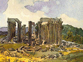 Temple of Apollo in Phigalia. Karl Bryullov