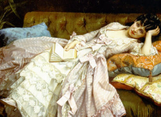 Sweet Doing Nothing (1877). Auguste Toulmouche