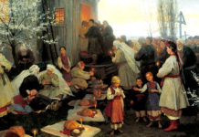 Mykola Pymonenko. Easter orthros in Little Russia