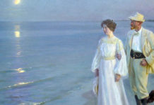 Summer evening on Skagen's beach (particolare). Peder Severin Kroyer