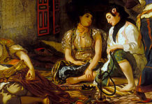 The Women of Algiers in their Apartment. Eugene Delacroix
