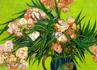 Oleanders and Books. Vincent van Gogh