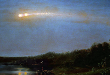 The Meteor of 1860 by Frederic Edwin Church