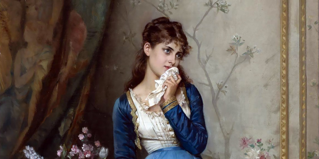 The Letter, 1879 by Auguste Toulmouche